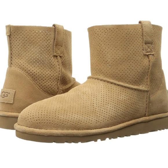 c3683859523 UGG Classic Unlined Mini Perforated Boots